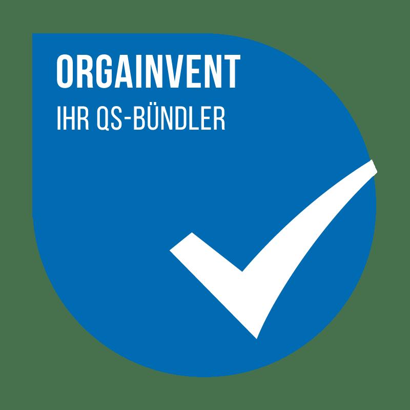 Logo QS Bündelung mit Orgainvent
